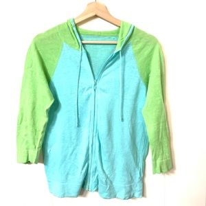Sweaters - Green and Blue Sweater